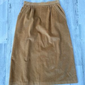 Vintage 70s Highwaisted Corduroy Pencil Skirt